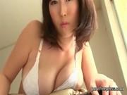 Big tits japanese girl in white bikini